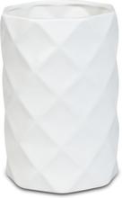 Vas Romb H22 cm - Vit