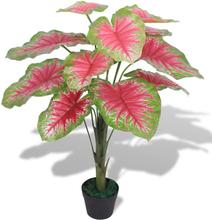 vidaXL Konstväxt Kaladium med kruka 70 cm grön och röd