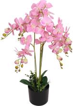 vidaXL Konstväxt Orkidé med kruka 75 cm rosa