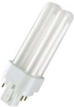 Non-integrated compact fluorescent light bulb with reflector DULUX D/E G24q-2