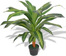 vidaXL Konstväxt Dracena med kruka 90 cm grön