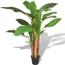 vidaXL Konstväxt Bananträd med kruka 175 cm grön