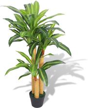 vidaXL Konstväxt Dracena med kruka 100 cm grön