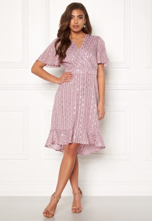 Y.A.S Dawny S/S Dress Dawn Pink W Gold M