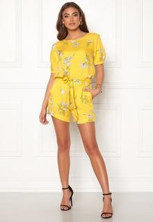 Jacqueline de Yong Kenya Shorts Lemon/Flower 34