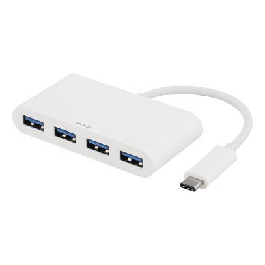 DELTACO DELTACO USB-hub, USB-C (hann) til 4xUSB type A (hunn)