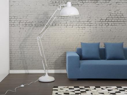 Modern golvlampa vit - läslampa - belysning - PARANA