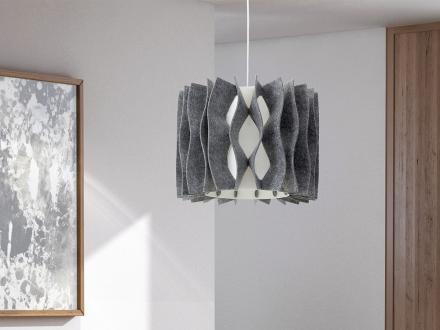 Modern taklampa grå - hängande lampa belysning - MOZA