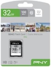 PNY Elite - Flashhukommelseskort - 32 GB - UHS-I U1 / Class10 - SDHC UHS-I