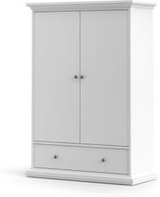 Tvilum Garderob Paris 2 dörrar + 1 låda-Vit