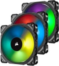 CORSAIR ML Series ML120 PRO RGB LED Premium Magnetic Levitation - Indsats med blæser - 120 mm - hvid, blå, gul, rød, grøn, orange, violet (pakke med