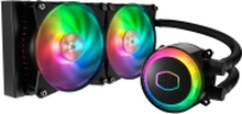 Cooler Master MasterLiquid ML240R RGB - Processors flydende kølesystem - (for: LGA775, LGA1156, AM2, AM2+, LGA1366, AM3, LGA1155, AM3+, LGA2011, FM1,