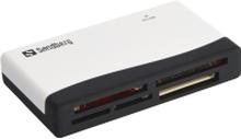 Sandberg Multi Card Reader - Kortlæser (MS, MMC, SD, xD, CF, TransFlash, microSD, SDHC, MS Micro) - USB 2.0