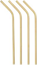 Metallsugrör GOLD 4-pack