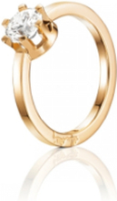 Efva Attling Crown Wedding Ring Guld 1,0 Ct Diamant