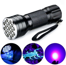 UV 21 LED 395NM Ultra Violet Taskulamppu - Tunnistaa Koiran virtsan
