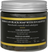 Moroccan Black Soap with Eucalyptus, 200 g