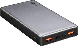 Goobay Quick Charge Powerbank - Dobbelt USB, Type-C - 20000mAh