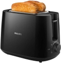 Philips Daily Collection HD2581 - Brødrister - 2 skive - 2 Holdere - sort