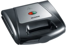 SEVERIN SA 2968 - Toast maskine / vaffelbager / grill - 1 kW - sort/krom