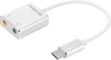 Sandberg USB-C to Sound Link - Lydkort - stereo - USB-C