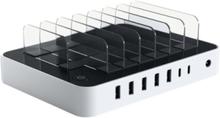 7-Port USB Charging Station Dock - strømforsyningsadapter