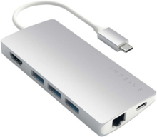 Aluminum Multi-Port Adapter V2 - dockingstation - Silver