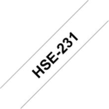 Brother HSe-231 - Sort på hvid - Rulle (1,2 cm x 1,5 m) 1 rulle(r) rør - for P-Touch PT-D600, D800, E500, E550, E800, H101, P750, P900, P950 P-Touch