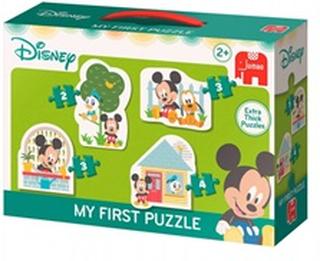form puslespil Disney Mickey-mit første puslespil 4-i-1