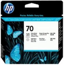 HP 70 - Lysegrå, foto-sort - printhoved - for DesignJet HD Pro MFP, SD Pro MFP, T1120, Z3100, Z3200, Z5200, Z5400 Photosmart Pro B8850