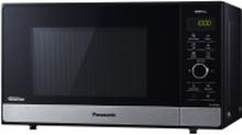 Panasonic NN-GD38 - Mikrobølgeovn med grill - fritstående - 23 liter - 1000 W - rustfrit stål/sort