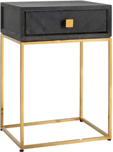 Richmond Nightstand Blackbone gold 1-drawer