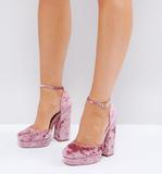 ASOS PING Wide Fit Platform Heels - Pink