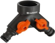 GARDENA 938-20 2-vejs fordeler 24,2 mm (3/4) IG, Stikkobling med reguleringsventil