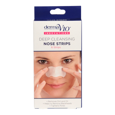 DermaV10 Deep Cleansing Nose Strips 6 kpl