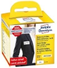 Selvklæbende navneetiketter avery, 4,1 x 8,9 cm, pakke a 200 stk.