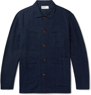 Universal Works - Bakers Slub-cotton Overshirt - Blue - L,Universal Works - Bakers Slub-cotton Overshirt - Blue - XS,Universal Works - Bakers Slub-cotton Overshirt - Blue - XL,Universal Works - Bakers Slub-cotton Overshirt - Blue - M,Universal Works - Bak
