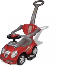 Lekebil med håndtak - rød