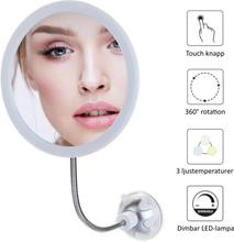 AVOCADOBEE Sminkspegel Flexi LED 10x med sugproppsfäste (Variant: 2 PACK 479kr/st)