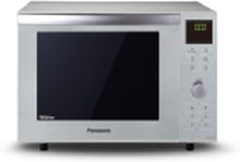 Panasonic NN-DF385MEPG - Slimline - mikrobølgeovn med varmeledning og grill - fritstående - 23 liter - 1000 W - sølv