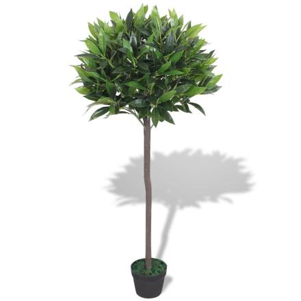 vidaXL Konstväxt Lagerträd med kruka 125 cm grön