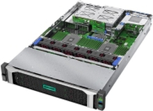 HPE ProLiant DL385 Gen10 Performance - Server - rack-monterbar - 2U - 2-vejs - 1 x EPYC 7302 / 3 GHz - RAM 16 GB - SAS - hot-swap 2.5 - ingen HDD - GigE - intet OS - skærm: ingen