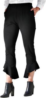 Bukse med volanger MIAMODA Svart