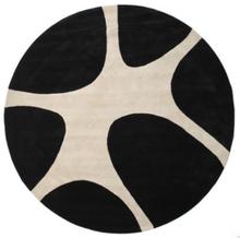Stones Handtufted - Svart matta Ø 300 Modern, Rund Matta
