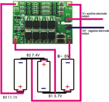 BMS 3S 40A Balancer PCM 18650 Lithium Battery Protection Board 3S BMS Li-ion Charger Charging With Balance 12.6V for Drill Motor