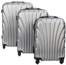 Musling grå kuffertsæt - Sæt med rejsekufferter i 3 størrelser - Eksklusiv hardcase kuffertsæt