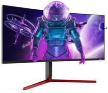 "AOC Gaming AG353UCG - AGON Series - LED-skärm - böjd - 35"" - 3440 x 1440 WQHD @ 200 Hz - 1000 cd/m² - 2500:1 - 2 ms - HDMI, 2xDisplayPort - högtalare"