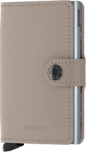 Secrid Miniwallet liten plånbok i skinn och metall, Grå