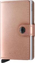 Secrid Miniwallet liten plånbok i skinn och metall, Koppar