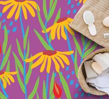 Vinyl vloerbedekking Bloemen en planten Kleurrijke madeliefjebloe